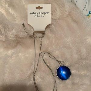 Ashley Cooper blue stone necklace
